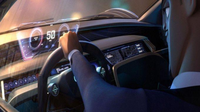 Audi RSQ E-Tron: gli interni futuristici