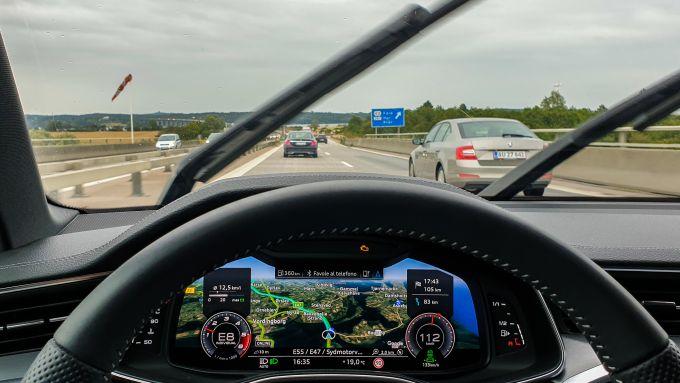 Audi S6 Avant: il navigatore sul Virtual Cockpit