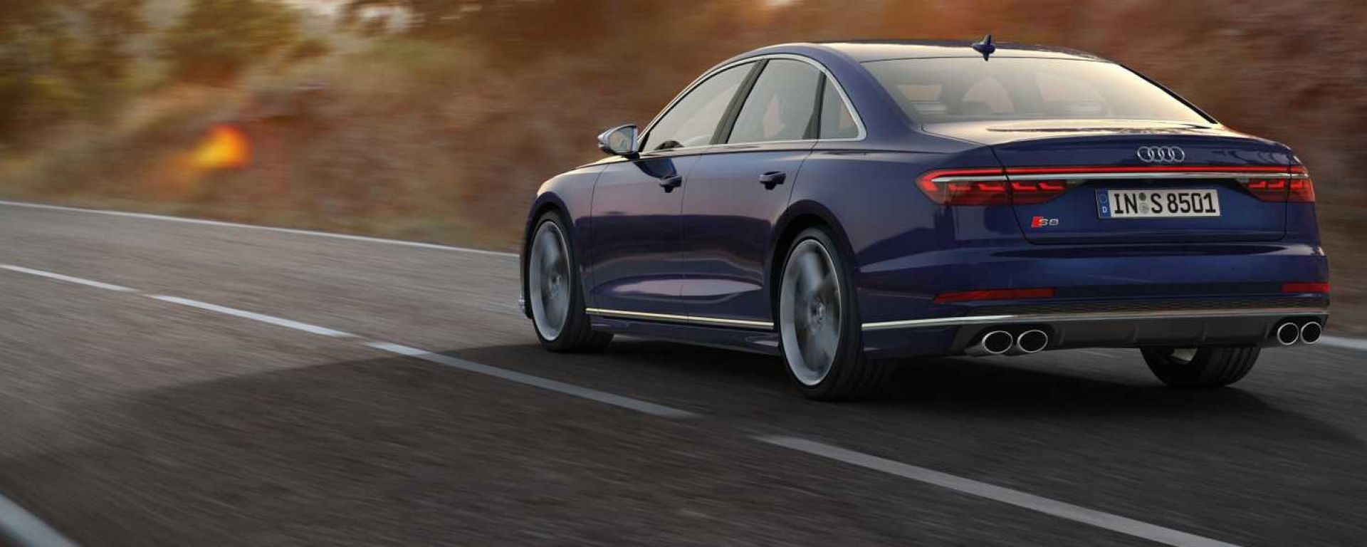 Audi S8 2019: Vista 3/4 posteriore