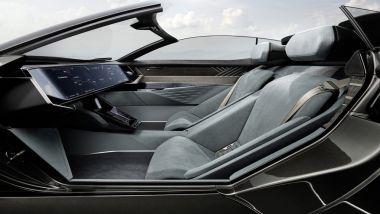 Audi Skysphere: l'abitacolo in configurazione GT con guida autonoma di livello 4