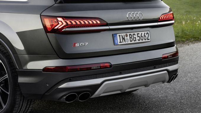 Audi SQ7: il posteriore sportivo