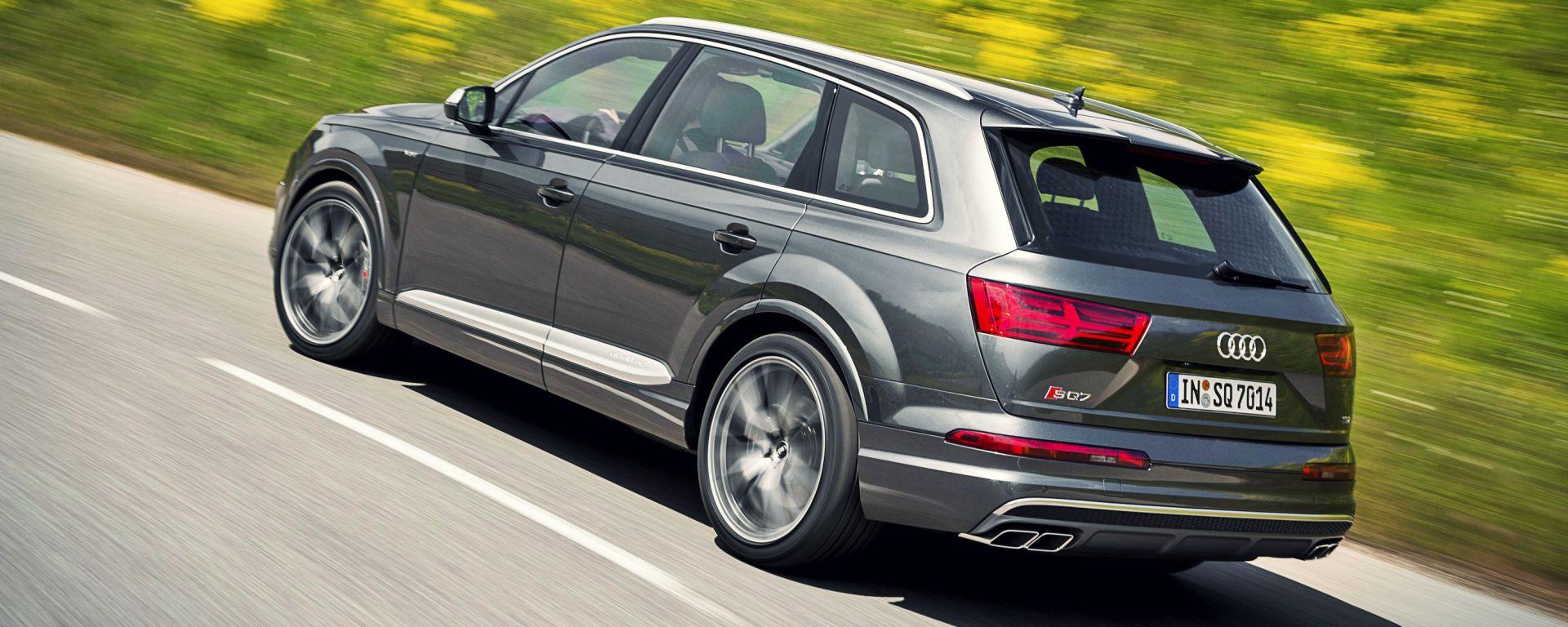 Audi SQ7 TDI: prova video della Suv con compressore elettrico