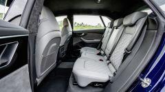 Audi SQ8: l'abitacolo posteriore