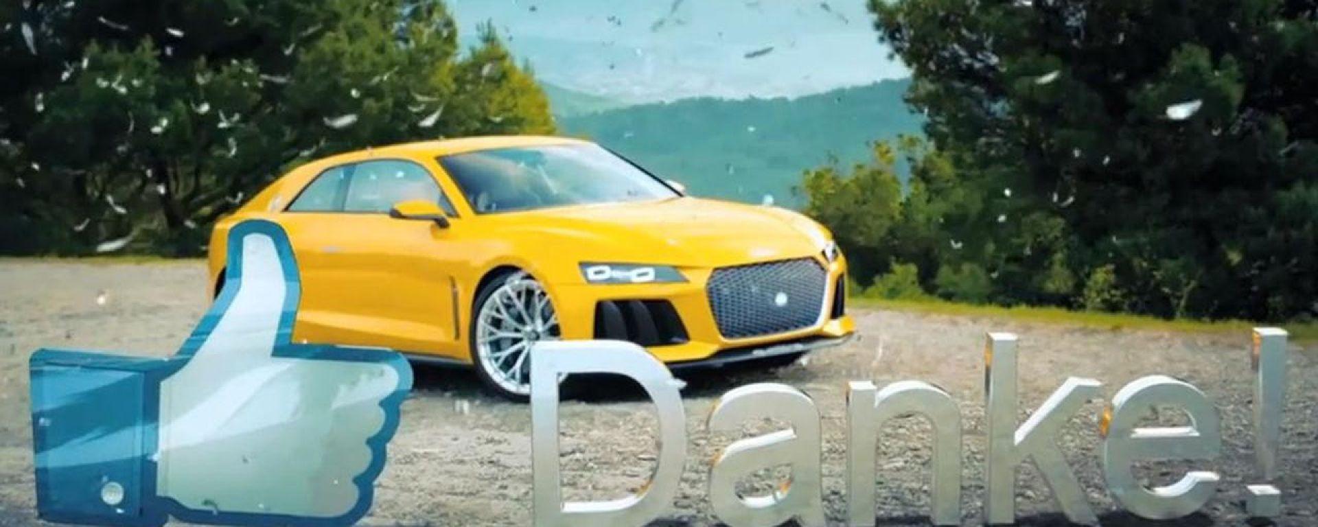 Audi: taglia il traguardo dei 100mila fan con la Sport Quattro Concept