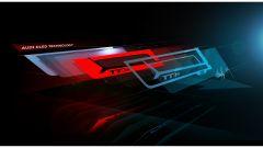 Audi TT RS 2016, sketch gruppo ottico posteriore
