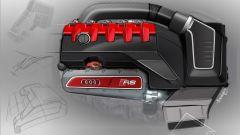 Audi TT RS Roadster 2016, sketch motore cinque cilindri