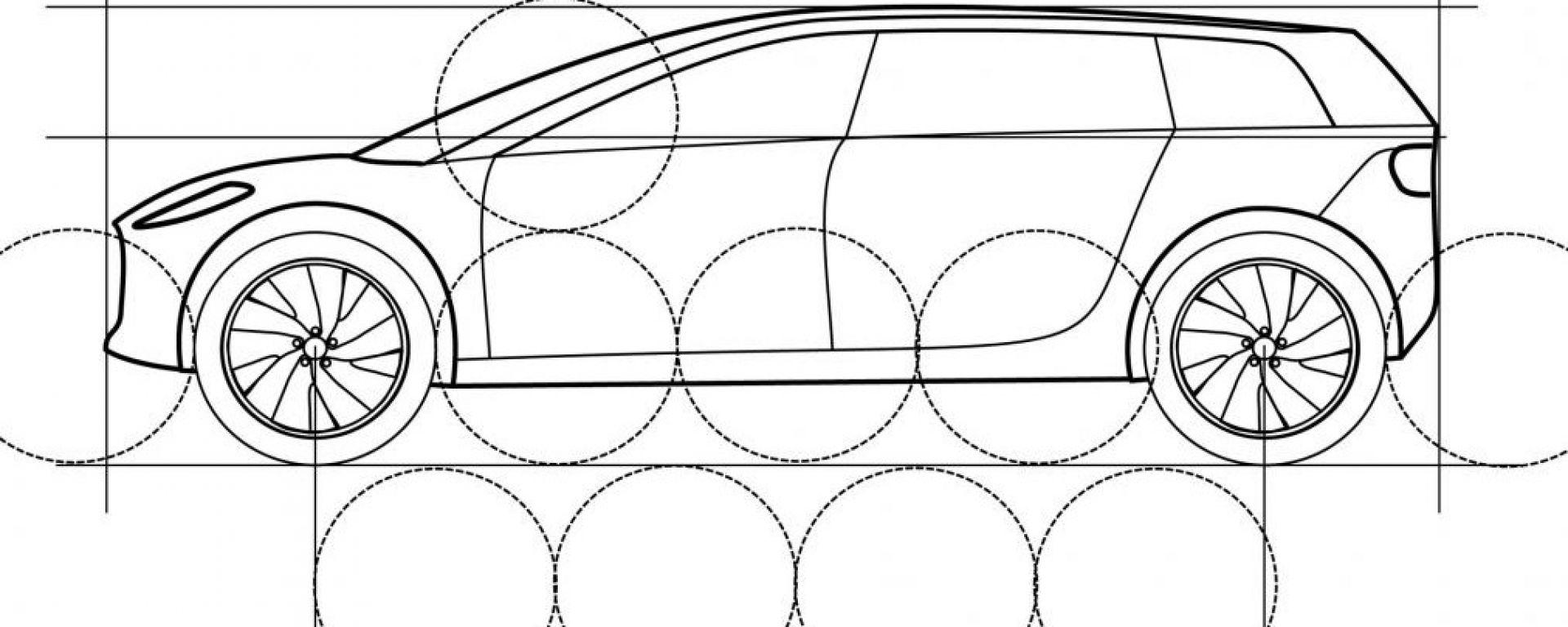 Auto elettrica Dyson, i bozzetti