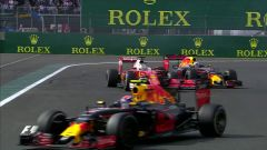 Autodromo Hermanos Rodriguez - la lotta tra Daniel Ricciardo e Sebastian Vettel (2016)