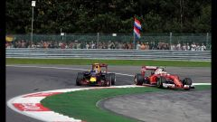 Autodromo Hermanos Rodriguez - la lotta tra Max Verstappen e Sebastian Vettel (2016)