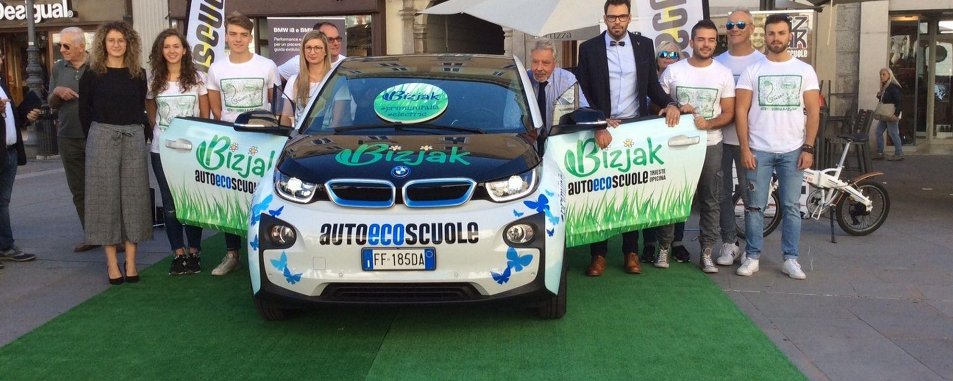 Autoscuole Bizjak, prima assoluta di scuola guida con auto elettrica