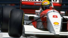 Ayrton Senna in azione con la McLaren-Ford MP4/8