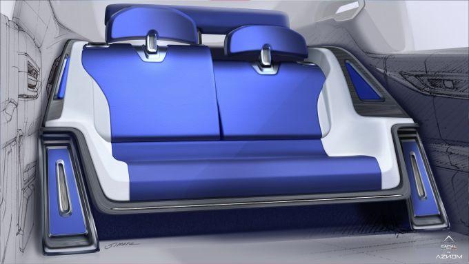Aznom Palladium: la poltrona posteriore reclinabile