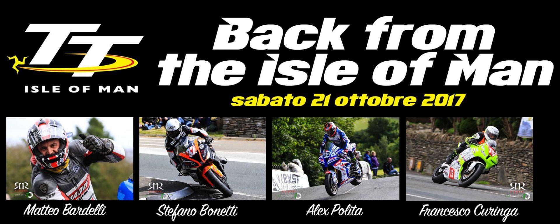 Back from the isle of man: sabato 21 ottobre a ciapa la moto