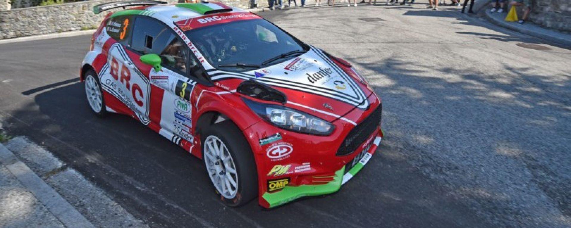 Basso e Granai e la loro Ford BRC al Rally Friuli Venezia Giulia