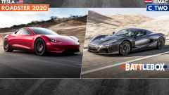 Tesla Roadster 2020 vs Rimac C_Two: la sfida elettrizzante - Immagine: 1