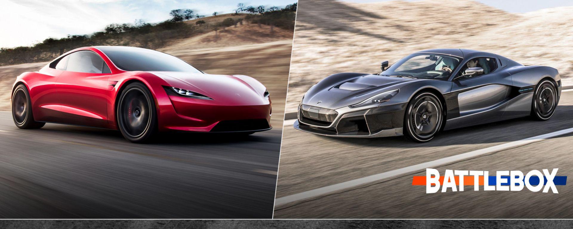 Battlebox Tesla vs. Rimac: la sfida delle supercar elettriche