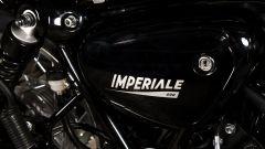 Benelli Imperiale 400: dettaglio sul fianchetto
