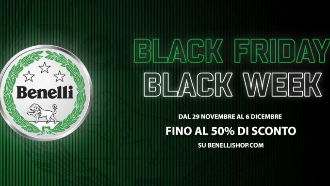 Benelli, la locandina dell'offerta del Black Friday