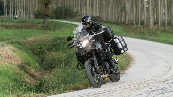 Benelli TRK 502 X su strada
