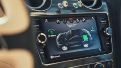 Bentley Bentayga Hybrid: il menu per monitorare lo stato del sistema PHEV