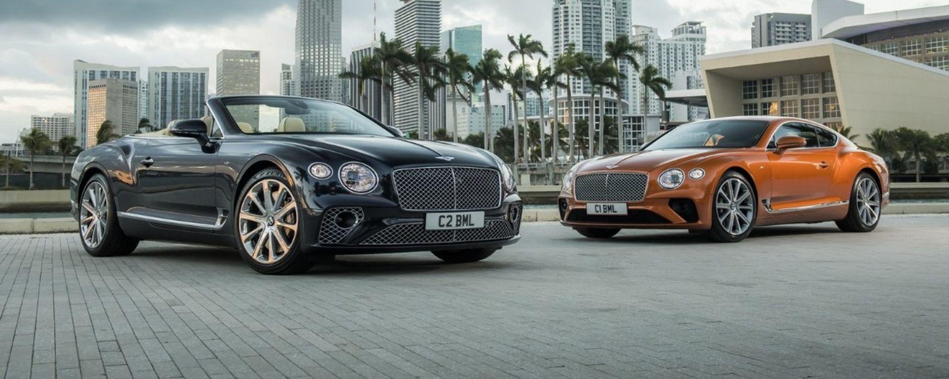 Bentley Continental GT 2019 novità sotto al cofano con il V8
