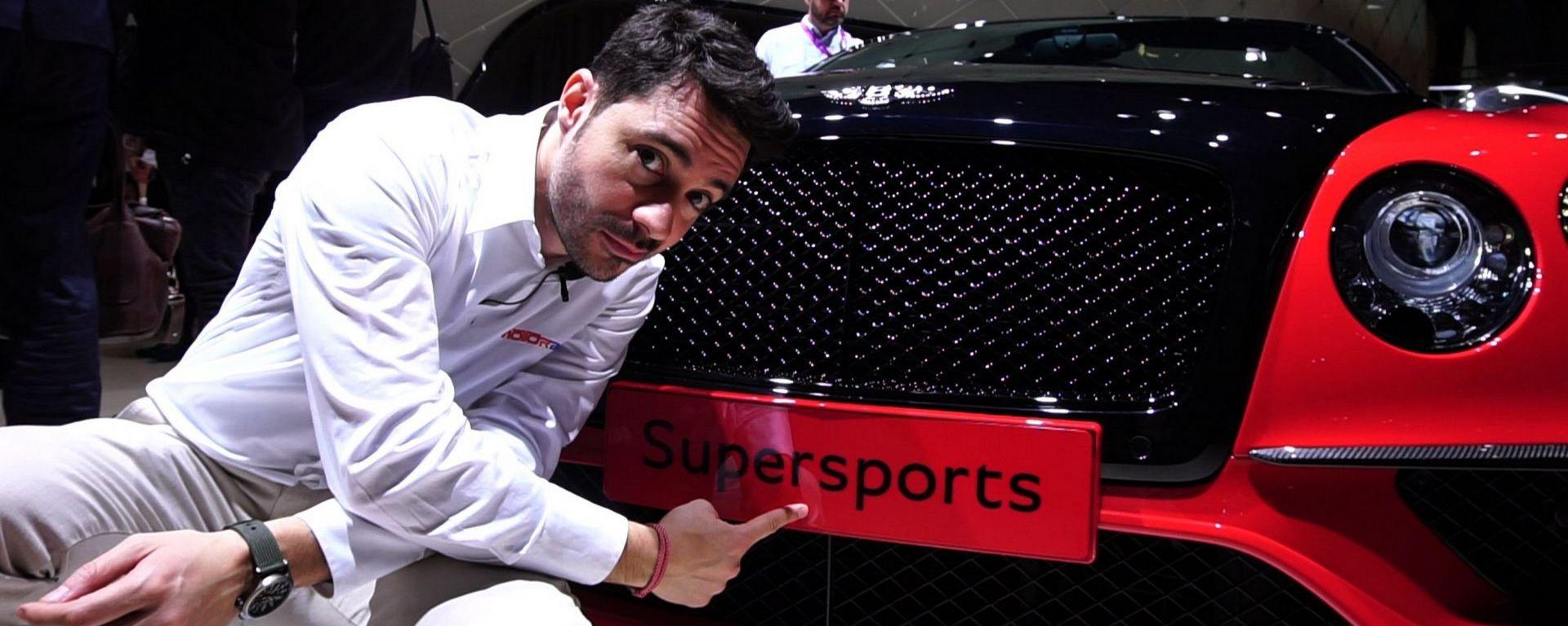 Bentley Continental SuperSports, Salone di Ginevra 2017, live dallo stand