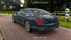 Bentley Flying Spur in AR: visuale di 3/4 posteriore