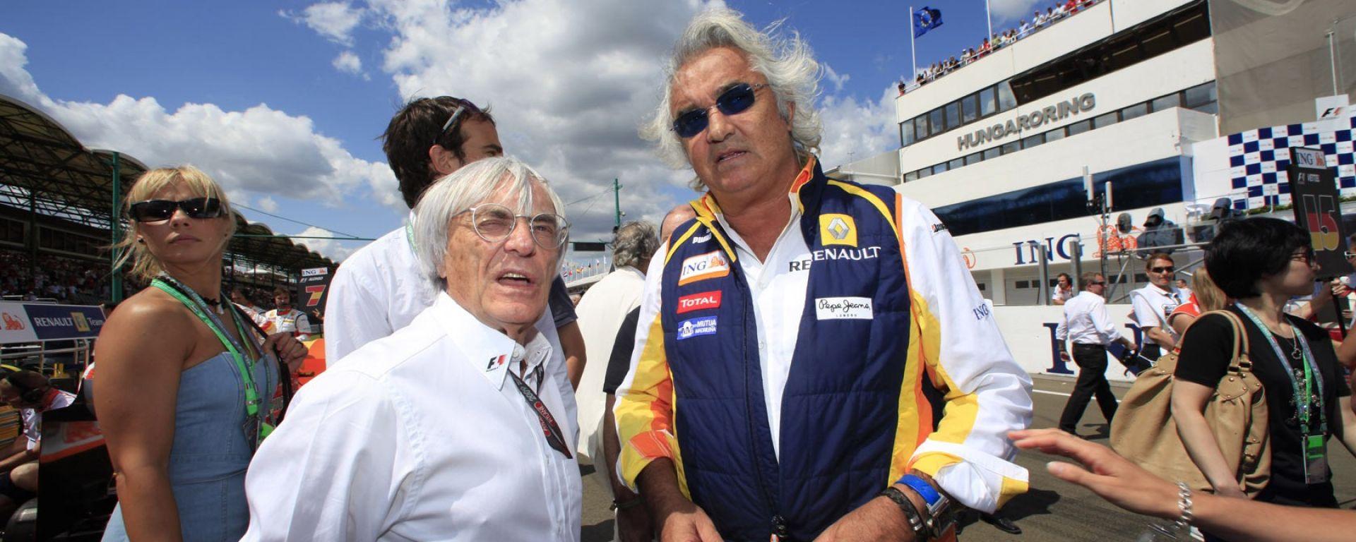 Bernie Ecclestone e Flavio Briatore - F1