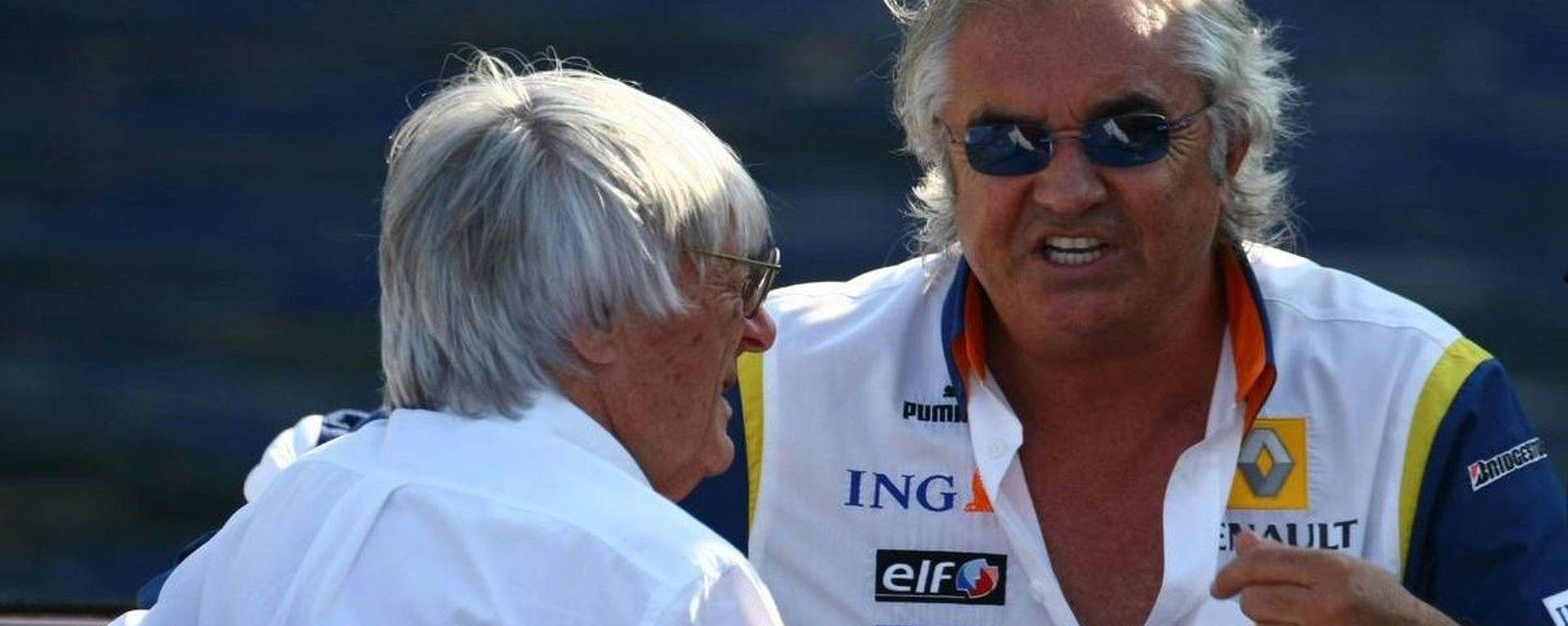 Bernie Ecclestone e Flavio Briatore