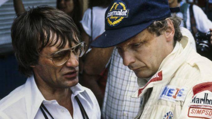 Bernie Ecclestone e Niki Lauda (Brabham)