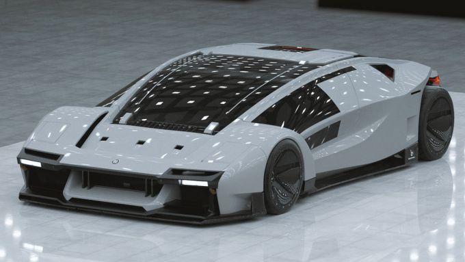 Bertone Stratos BAX, i rendering