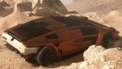 Bertone Stratos BAX immaginata tra le rocce