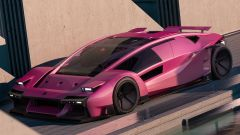 Bertone Stratos BAX, in un audace rosa shocking