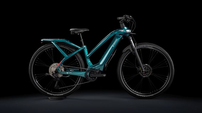 Bianchi e-Omnia T Type Lady, visuale laterale