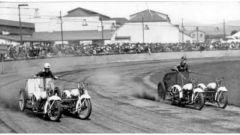 Bighe motorizzate: le piste erano un anello di terra battuta