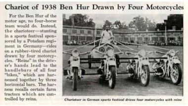 Bighe Motorizzate: nel 1938 ne parlavano anche i giornali