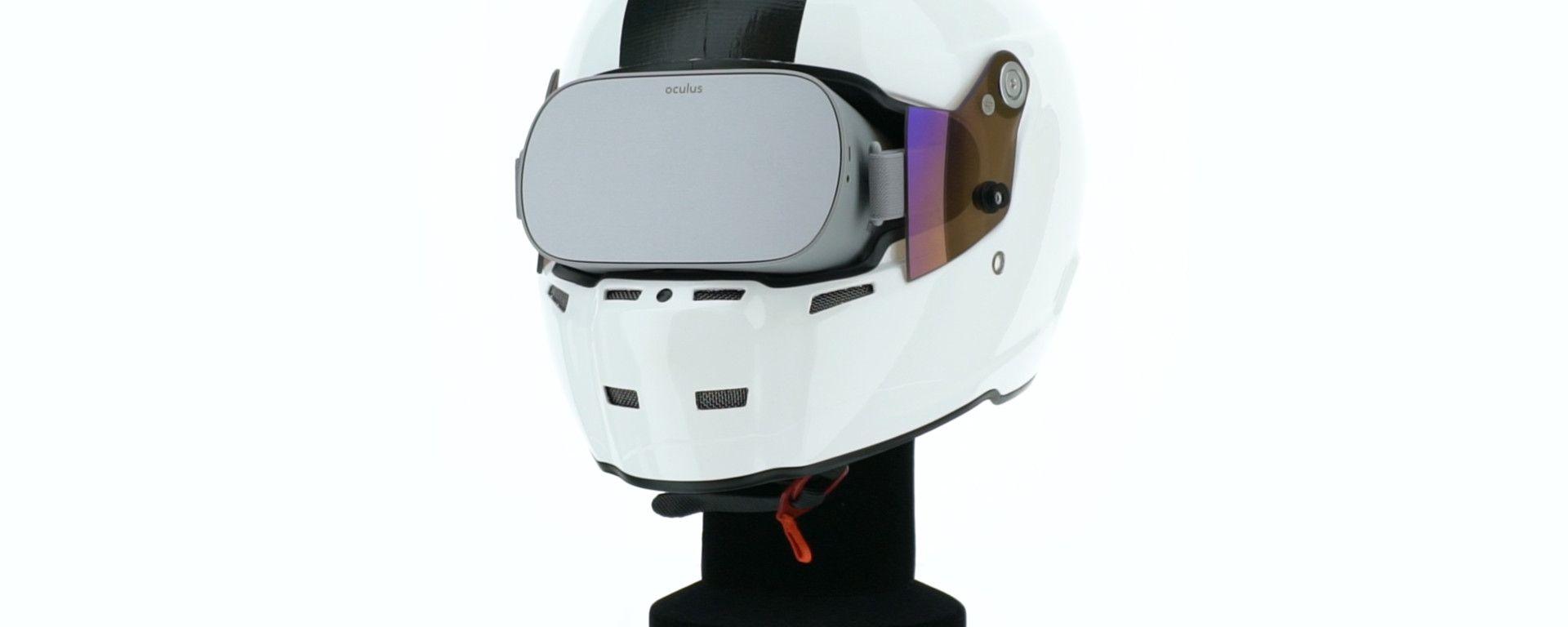 BikerX Helmet, il visore di realtà virtuale per BikerX