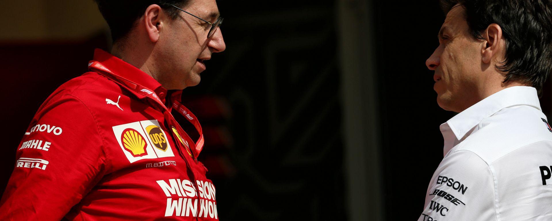 """Griglia invertita, Binotto critica la Mercedes: """"Un'occasione persa"""""""