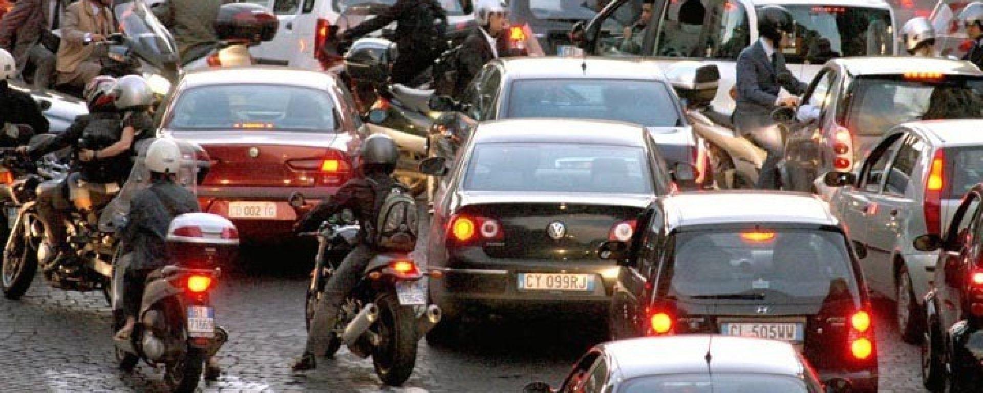 Traffico: stop alle moto Euro 0 e Euro 1 a Roma