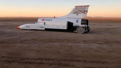 Bloodhound LSR Jet Car: vista laterale