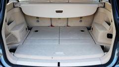 BMW 218d Gran Tourer xDrive: il bagagliaio con i sedili della terza fila abbattuti