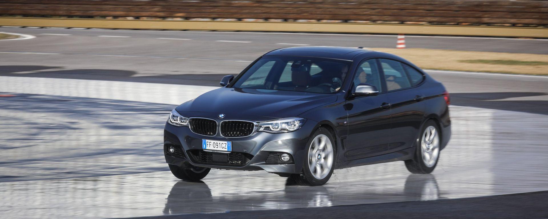 BMW 320d GT xDrive in prova sullo steering pad della pista ACI/SARA di Lainate (MI)