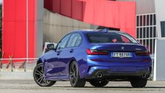 BMW 320d Msport 2019, vista 3/4 posteriore