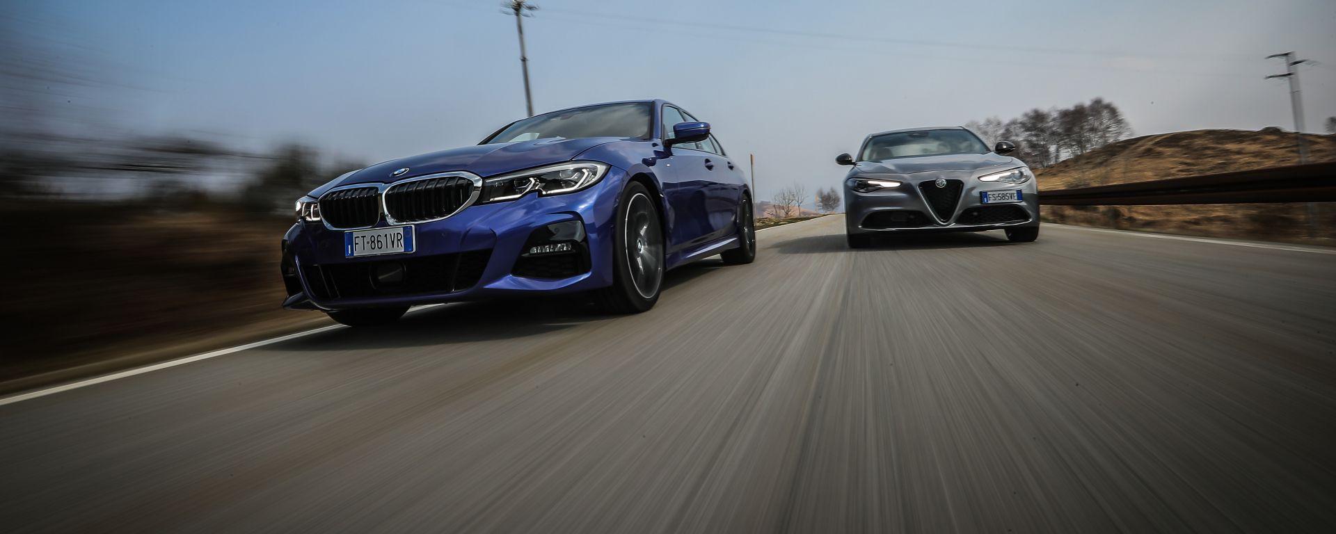 BMW 320d Msport e Alfa Romeo Giulia B-Tech 2.2 diesel a confronto