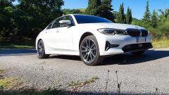 BMW 330e Sport 2020, un momento del test
