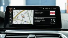 BMW 520d xDrive Touring, il display dell'infotainment