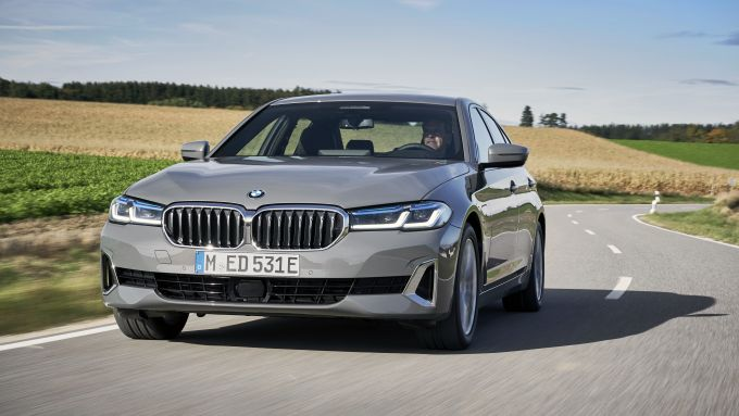 BMW 520e: frontale