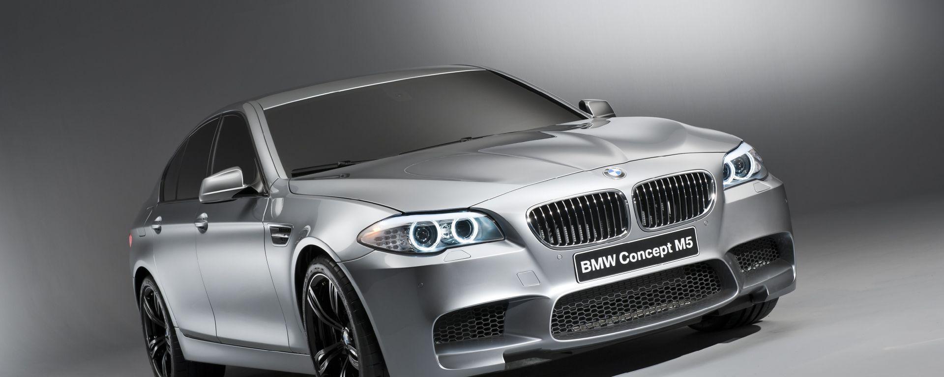 Bmw Concept M5, le prime foto ufficiali