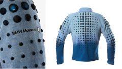 BMW Creative Lab: grazie a speciali bottoni in materiale biomeccanico la giacca Skin offre un'altissima protezione