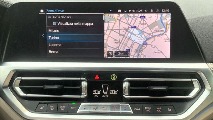 BMW eDrive Zones: la mappa della ZTL di Torino